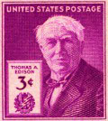 US Stamps of 1947: Thomas Edison